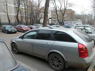 Установка быстросъемных коротких рейлингов в штатные места вместо поперечин.Р12 Wagon-p1010792.jpg