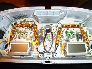 Спидометр и передняя консоль - Снятие. Замена ламп в приборной панели Р11.-3.jpg