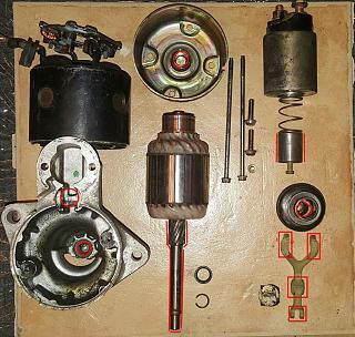 Ремонт стартера P11 SR20De Mitsubishi. Снятие и установка стартера.-32.jpg