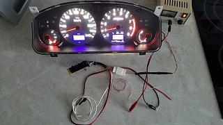 Установка светодиодов в панель приборов Р11 + в печку,  и во все кнопки в машине.-5.jpg